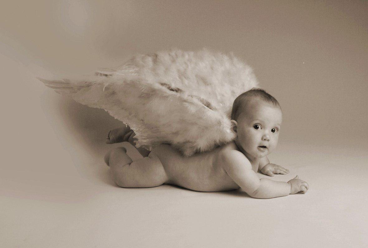 bambino con ali