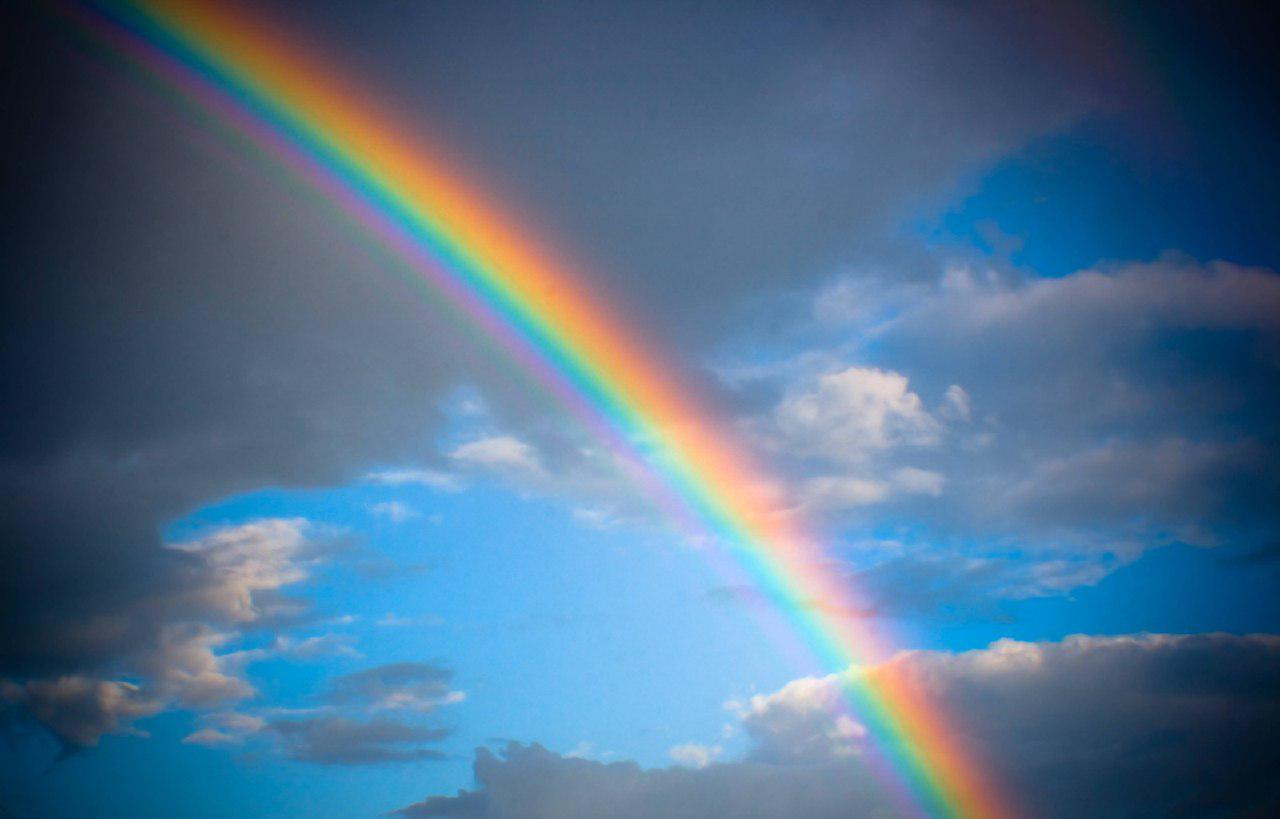 arcobaleno e positività