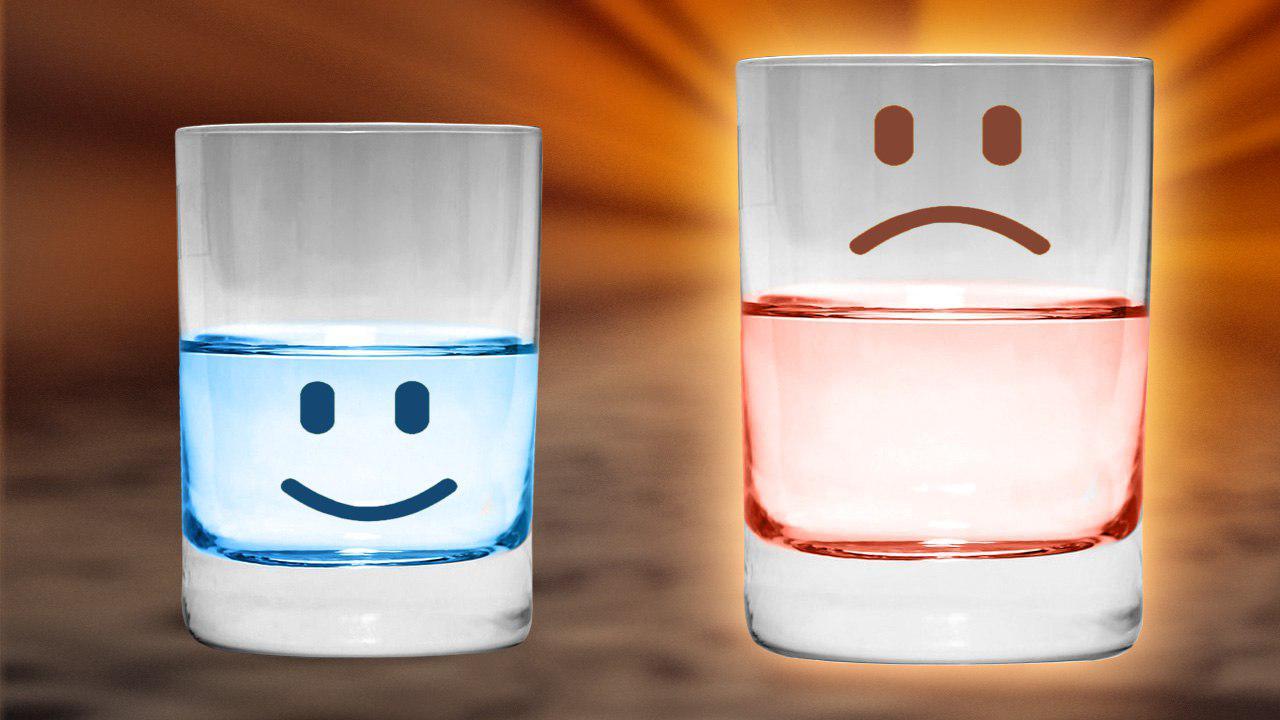 bicchiero mezzo vuoto e pieno